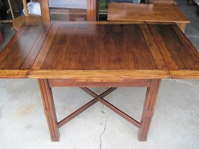 Antique English Oak Draw Leaf or Pub Table