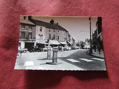 VINTAGE WORCESTERSHIRE: WORCESTER  St Johns RP b&w CARS SHOPS
