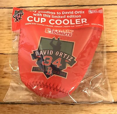 Dunkin' Donuts - Boston Red Sox / David Ortiz Cup Koozie/Cooler *Small/Med* NEW