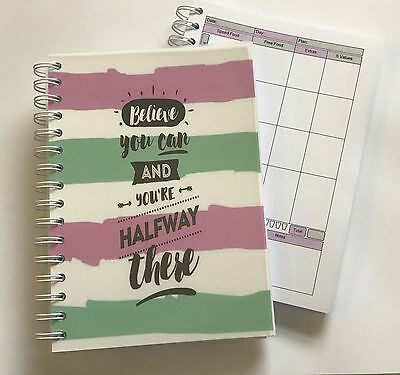 Diet Food Diary Slimming World Compatible Weight Loss Tracker Journal Planner 1