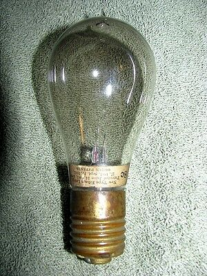 Antique Edison 8C Light Bulb, New Old Stock Mfg Date 11-5-1883 Very Rare!!!