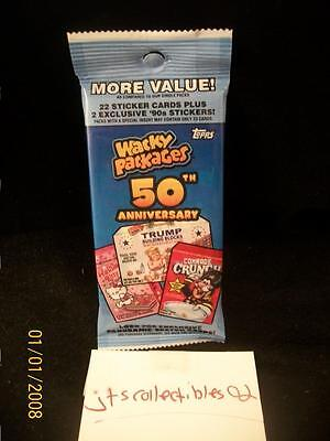 2017 Topps Wacky Packages 50th Anniversary Guaranteed Silver Border #50 Hot Pack