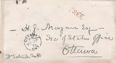 Canada 1872 House of Commons CDS & FREE Cancel Cover to Ottawa