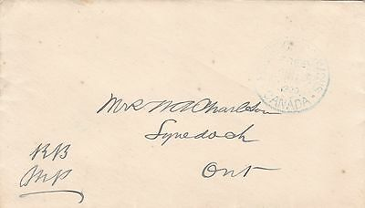 Canada 1900 House of Commons FREE CDS on Parliament Cover to Lynedoch Ont