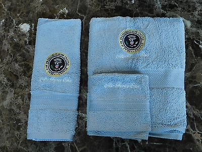 Authentic Presidential Seal Air Force One 3 piece Towel Set