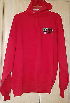 NWOT Red Hoodie Sweatshirt Embroidered Wisconsin Border Collie Rescue Size XL