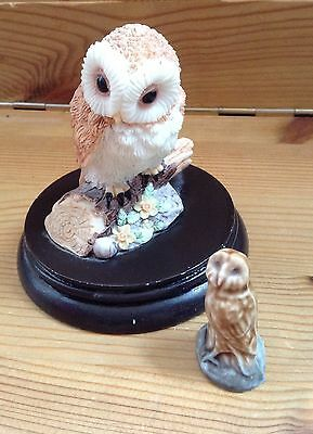 Wade Whimsie owl & Regency Fine Arts -Barn owl - Collectables