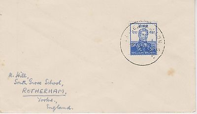 Ireland 1957 Tralee Mallow SC Cvr to UK Hammer 936 Only year of use