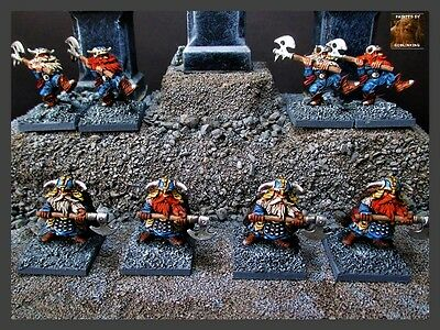 Reaper Miniature 8 x Metal Dwarves with Axes Painted by Michael Mordor D&D