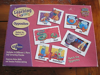 MasterPieces Learning Games Opposites 48 pc matching game ages 3-7 excellent!