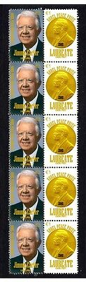 Jimmy Carter Nobel Peace Prize Strip Of 10 Stamps 2