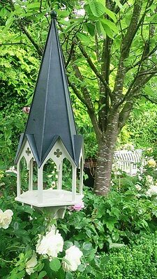 Gothic wooden bird table, designer, feeding station, hand made, wood. new
