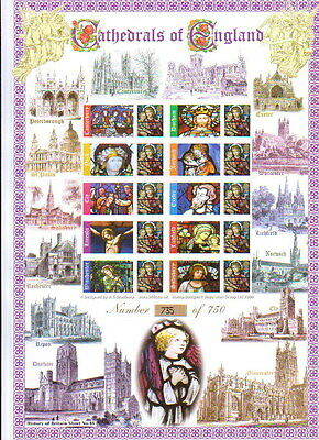 Smiler Sheet History of Britain Series NO 45 CATHEDRALS OF ENGLAND