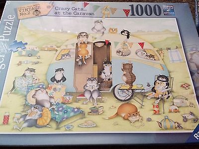 Ravensburger 19588 Crazy Cats - at the caravan 1000 Piece Jigsaw Puzzle - New