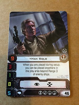 Star Wars X Wing Miniatures Han Solo alt Art Promo Card European Championship