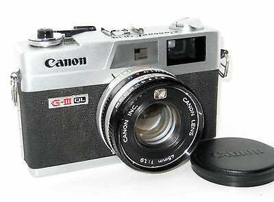 Canon Canonet Ql19 Ql 19  Giii Near Mint Serviced 100% Funzionante Full Working