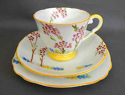 A Royal Stafford, Pattern '8083'  Cup, Saucer & Tea Plate Trio