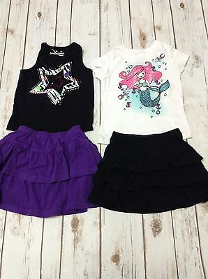 Girls Size 4T/4 Lot of 4 Skorts and Tops Excellent Used Condition