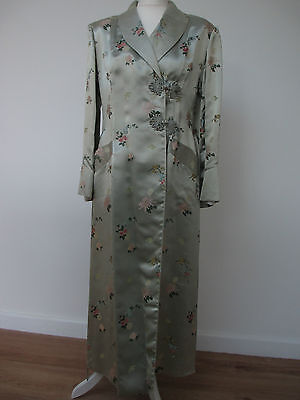 Vintage Chinese Silk Coat / Gown Peony