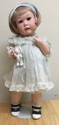 "18""  ANTIQUE REPRODUCTION GERMAN TODDLER DOLL Porcelain Head Compo Body"