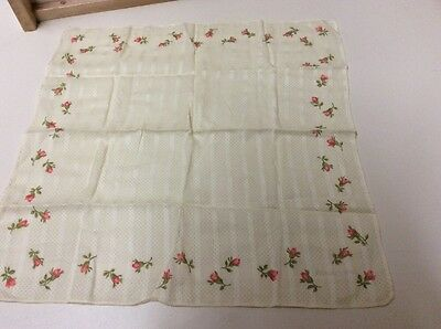 Handkerchief Classic Vintage Flower Private Label Pocket Square Scarf