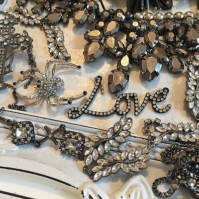 Job Lot 9 Broken Jewellery Vintage Style Crafts Shabby Chic Recycle Repair