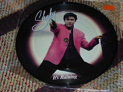 "Shakin' Stevens: It's Raining, 7"" Picture Disc 1981"