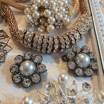 Job Lot 12 Broken Jewellery Vintage Style Crafts Shabby Chic Recycle Repair