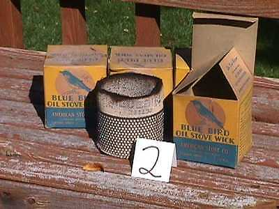 4 BLUE BIRD Oil STOVE WICKS in Original BOXES-NOS new old stock AS IS  (lot 2)