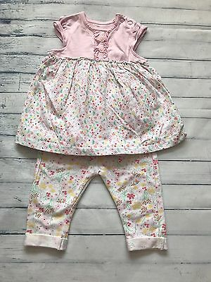 Baby Girls Clothes 0-3 Months - Pretty Dress & Trousers Outfit -