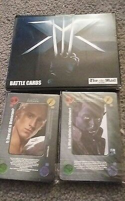 X-MEN, THE LAST STAND (battle cards) sealed. The Mail on Sunday - complete set