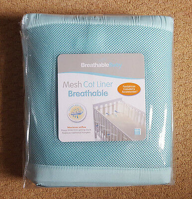 Breathable Baby 4-Sided Mesh Cot Liner UNISEX New/Sealed