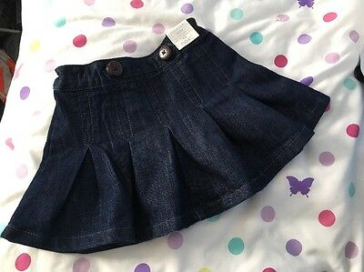 BNWT Next Girls Blue Denim Skirt 18-24