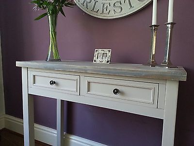 Contemporary Grey Hall Console Vanity Table Home Furniture Wood 2 Drawers