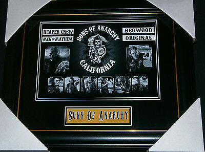 Sons Of Anarchy Action T.v. Series Outlaw Motorcycle Club Small Print Framed