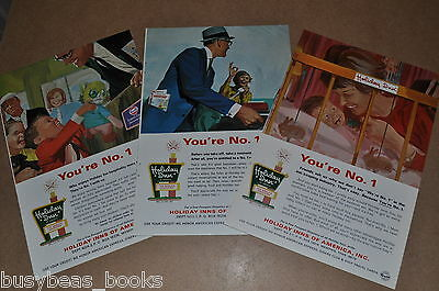 1969 Holiday Inn advertisement pages x3, HOLIDAY INN Roadside sign, Mom boss etc