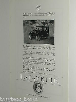 1920 LaFayette advertisement, LaFayette Motors Company, large car