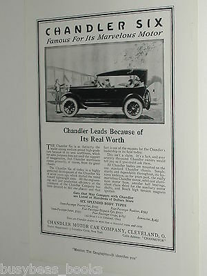 1920 Chandler advertisement, Chandler Motor Car Co. Chandler Six
