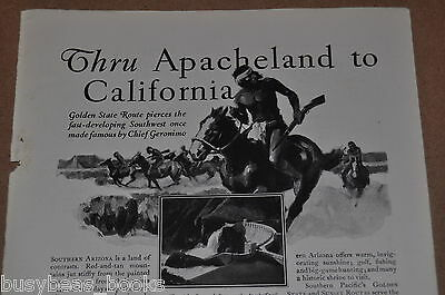 1929 Southern Pacific RR advertisement, Apache Land, Indian Native American