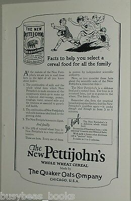 1925 Quaker Oats advertisement, Pettijohns Rolled Oats