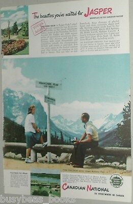 1946 Canadian National Railroad advertisement, Jasper Minaki Lodge, color CNR
