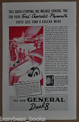 1938 GENERAL TIRE advertisement, Dual 8 Tires, with Pan Am Clipper