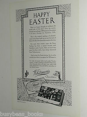 1931 Whitmans Chocolate ad, Happy Easter gift box