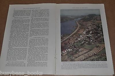 1937 magazine articles about WISCONSIN, people, history etc, color photos