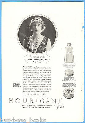 1923 HOUBIGANT Perfume advertisement, Queen Victoria of Spain