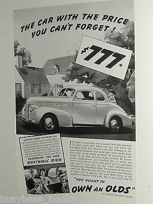 1939 Oldsmobile advertisement, Oldsmobile 60 Coupe, Olds