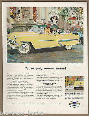 1954 CHEVROLET BEL AIR advertisement, Chevy Bel Air Sport coupe
