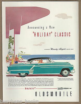 1952 OLDS NINETY EIGHT advertisement, Oldsmobile 98 Holiday Coupe