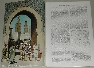 1955 magazine article about MOROCCO, people, history, Casablanca, Marrakech etc