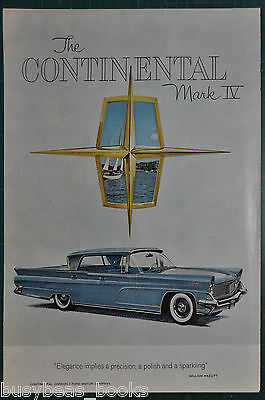 1959 LINCOLN CONTINENTAL Mark IV advertisement, Ford 4-door hardtop